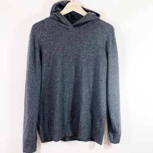 Everlane Gray Cashmere Pullover Hoodie